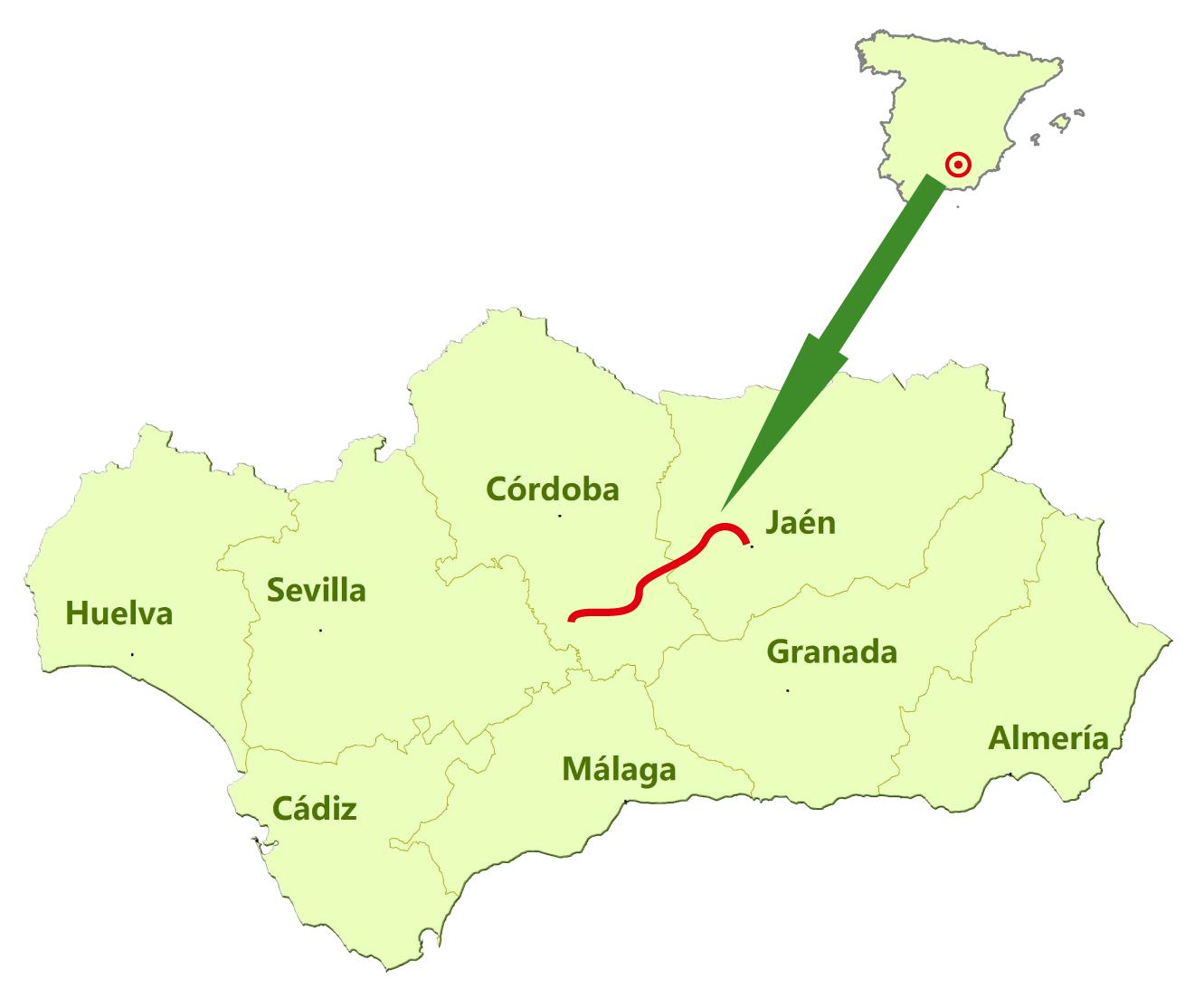 VV del Aceite  Itinerario de las Vas Verdes de Espaa