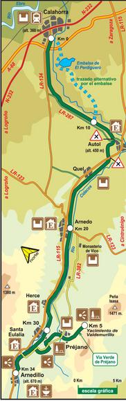 Plano de Situación de la Vía Verde