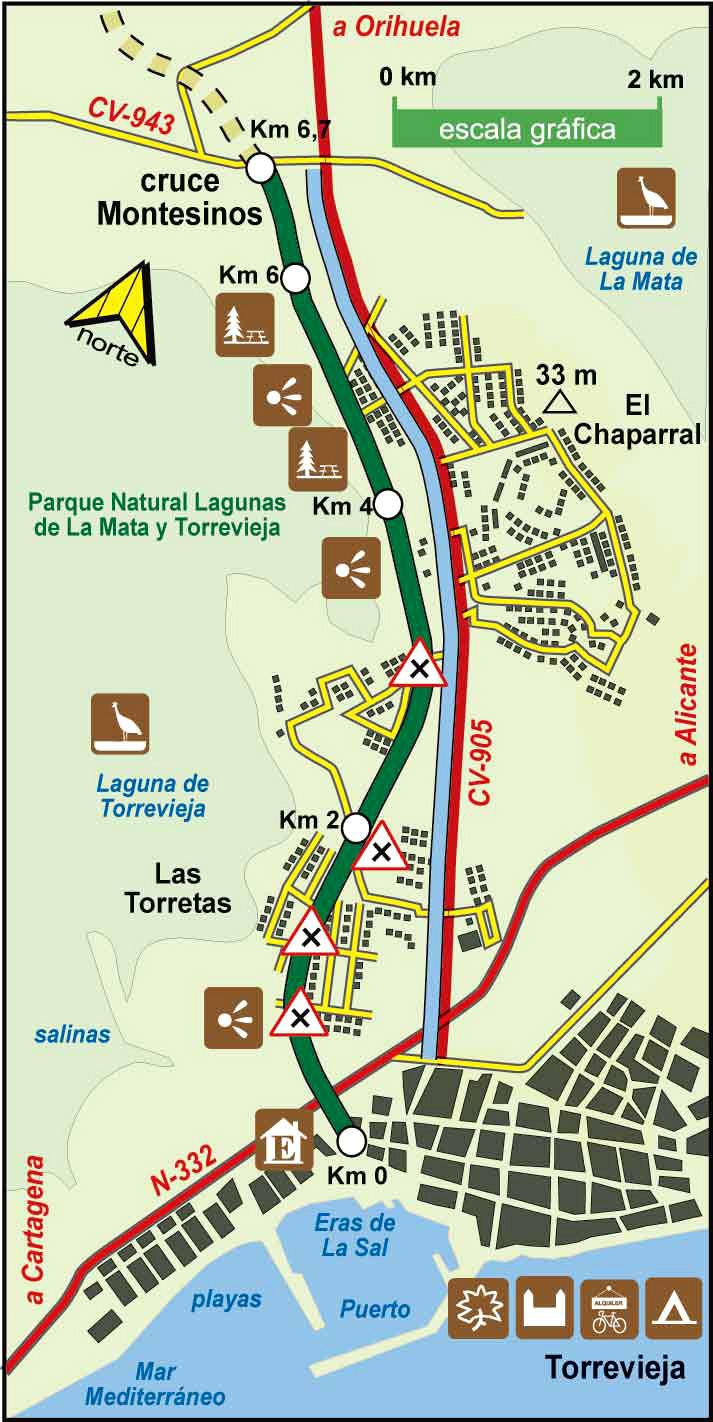 Torrevieja Greenway Spanish Green Ways Itineraries